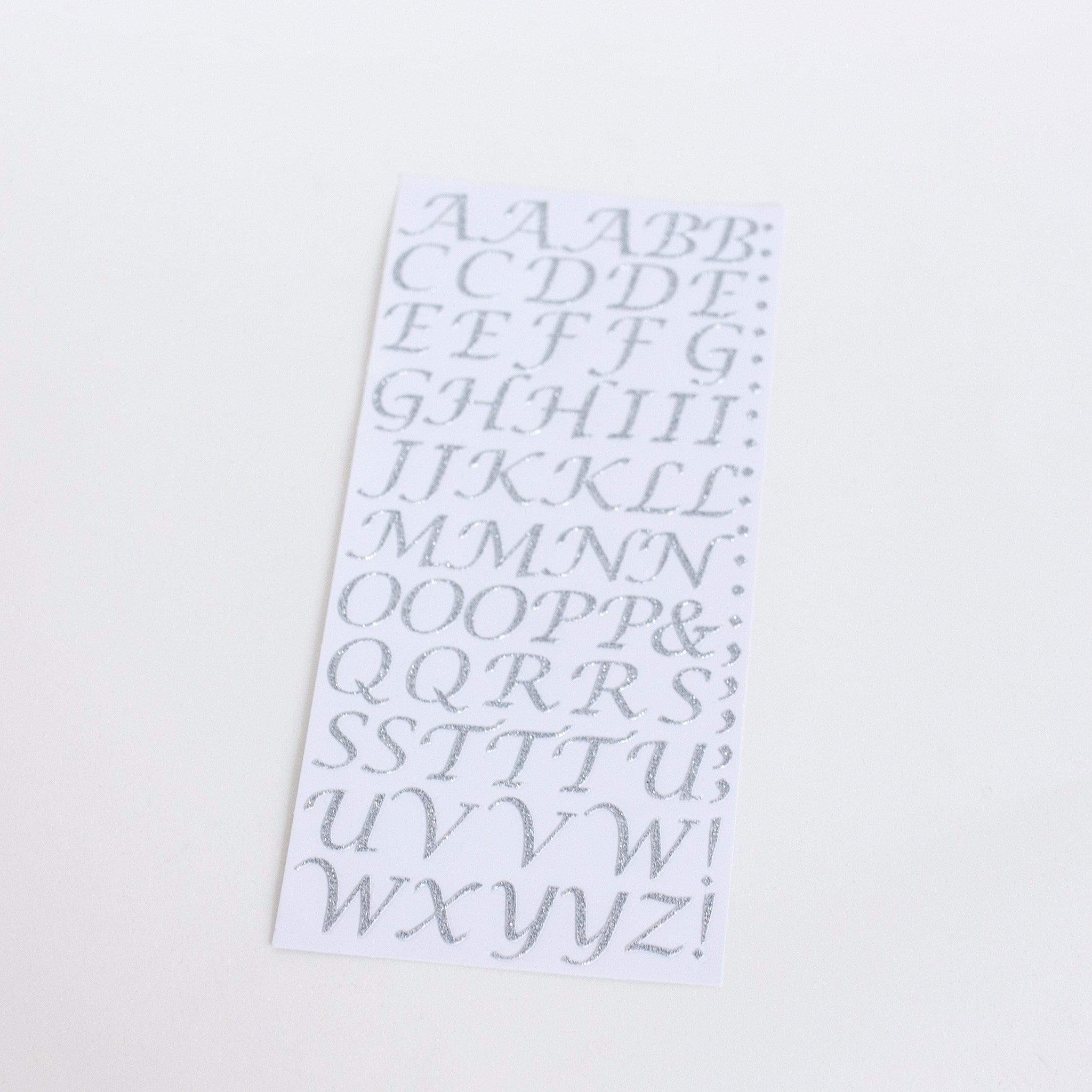 Silver Letter Stickers