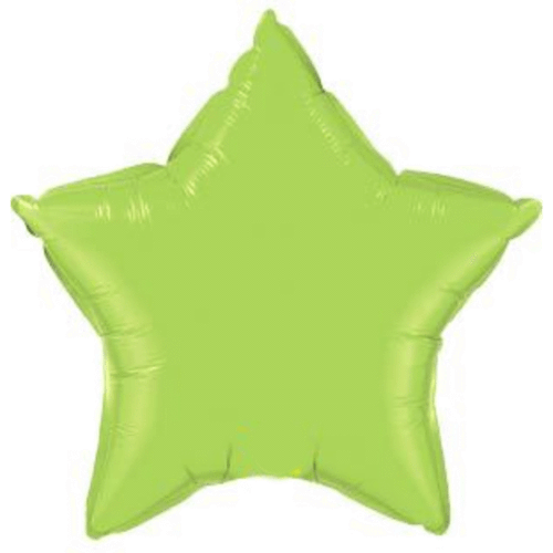 Lime Green Star Foil Balloon - Qualatex Balloons