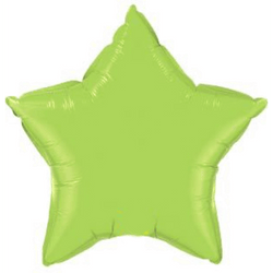 Lime Green Star Foil Balloon 20""