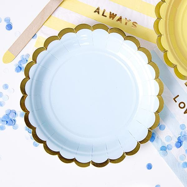 Pretty Blue party Plates