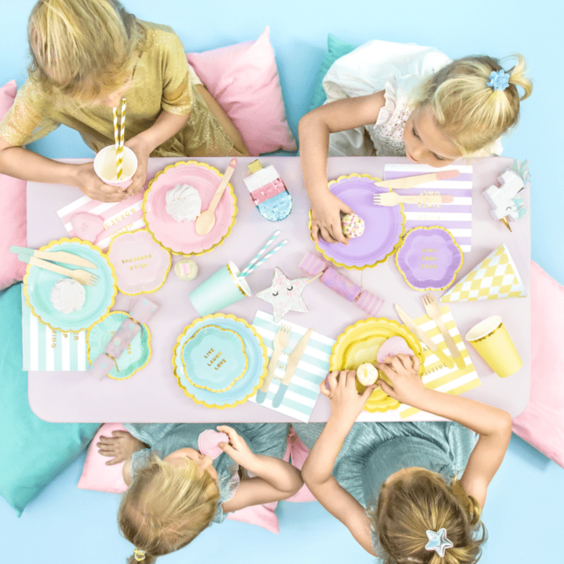Pastel Party Tableware Sweet and Simple