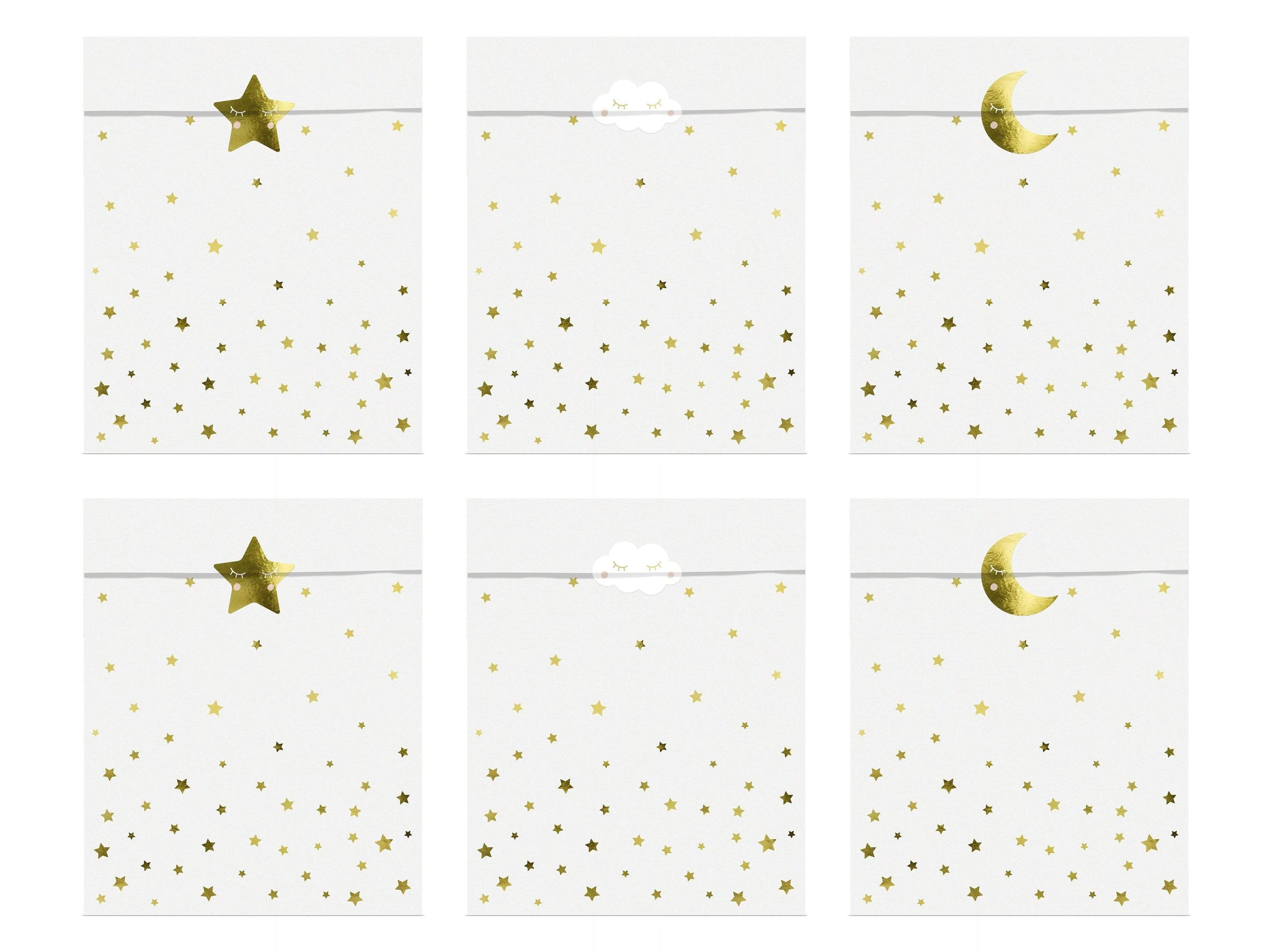 Cute Star & Moon treat Bags | Moon Party Bags baby Showers & Parties
