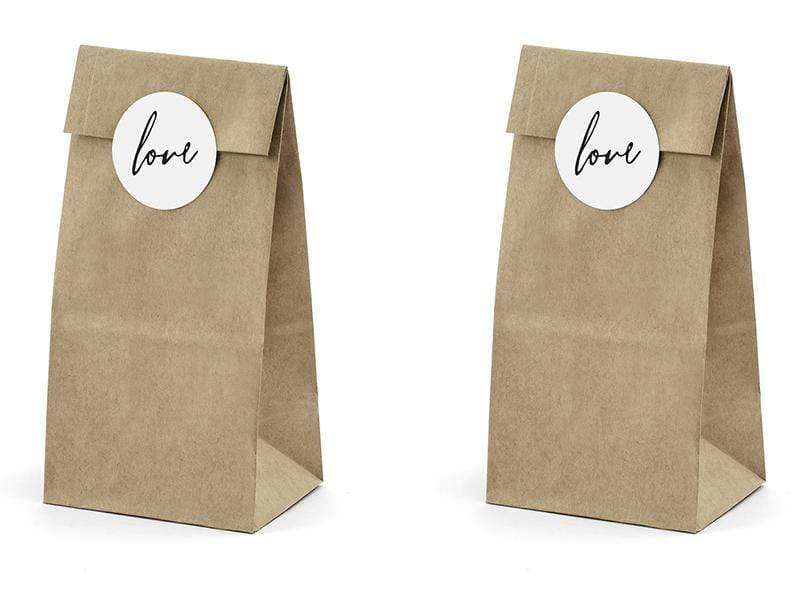 Love favor Bags - Kraft