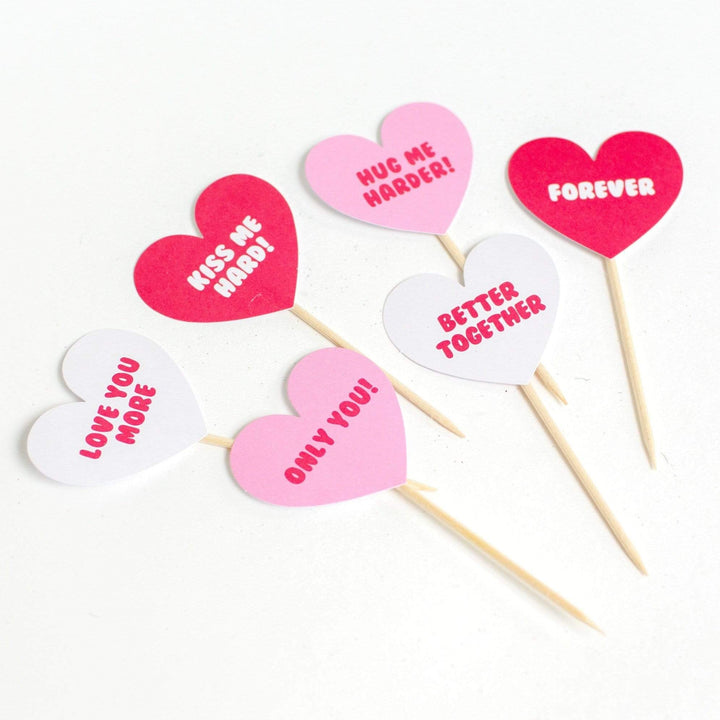 Love Hearts Cupcake Toppers