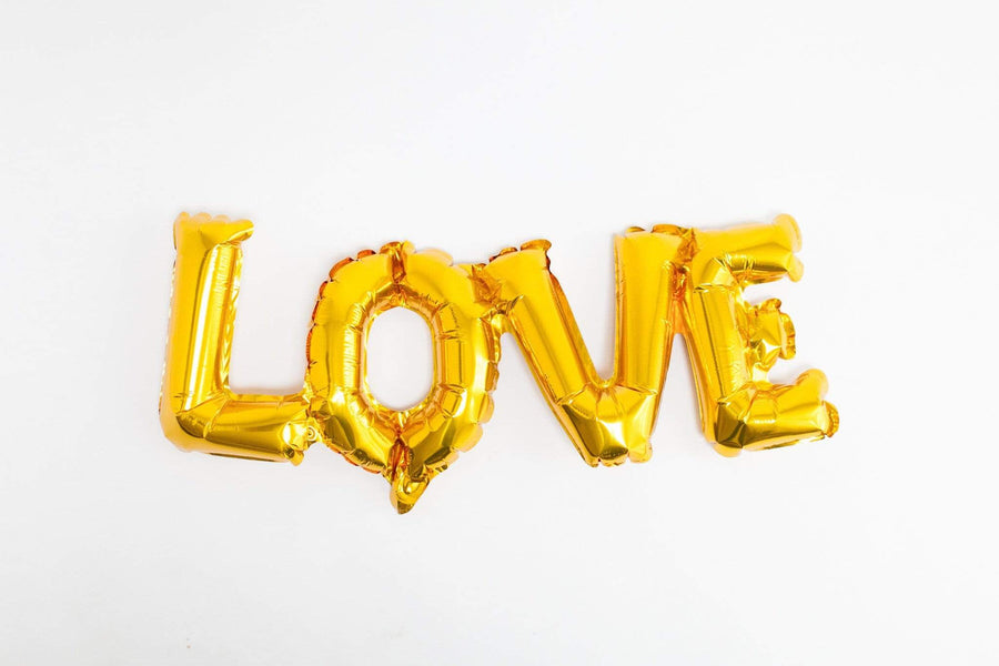 Love Word Balloon Script Text Balloon