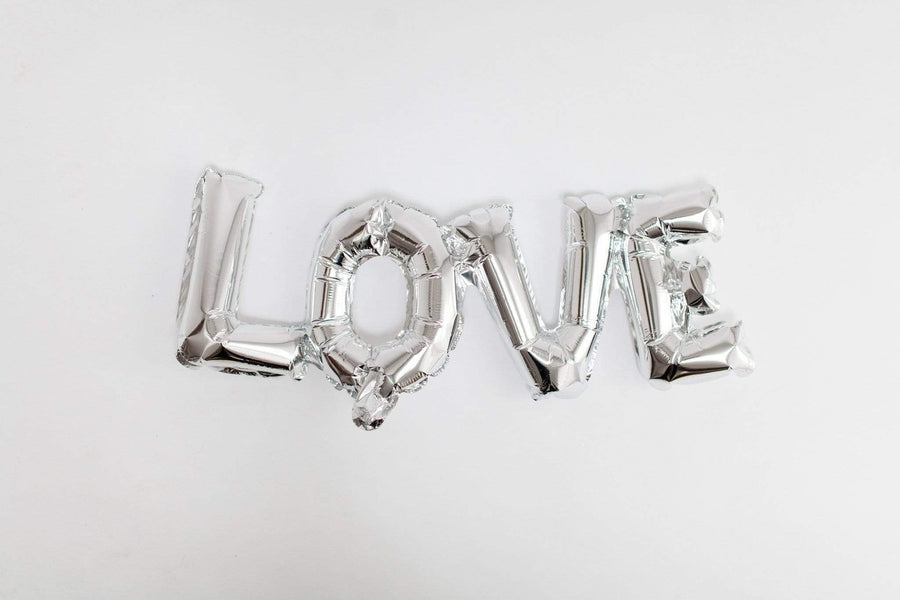 Love Word Script Balloon