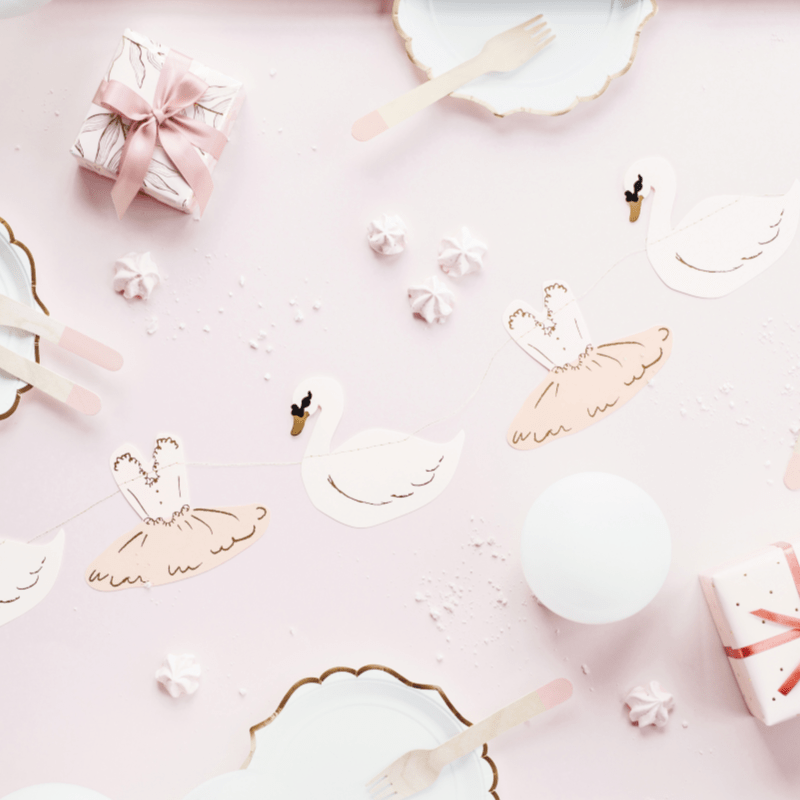 Swan and Ballerina Party Garland