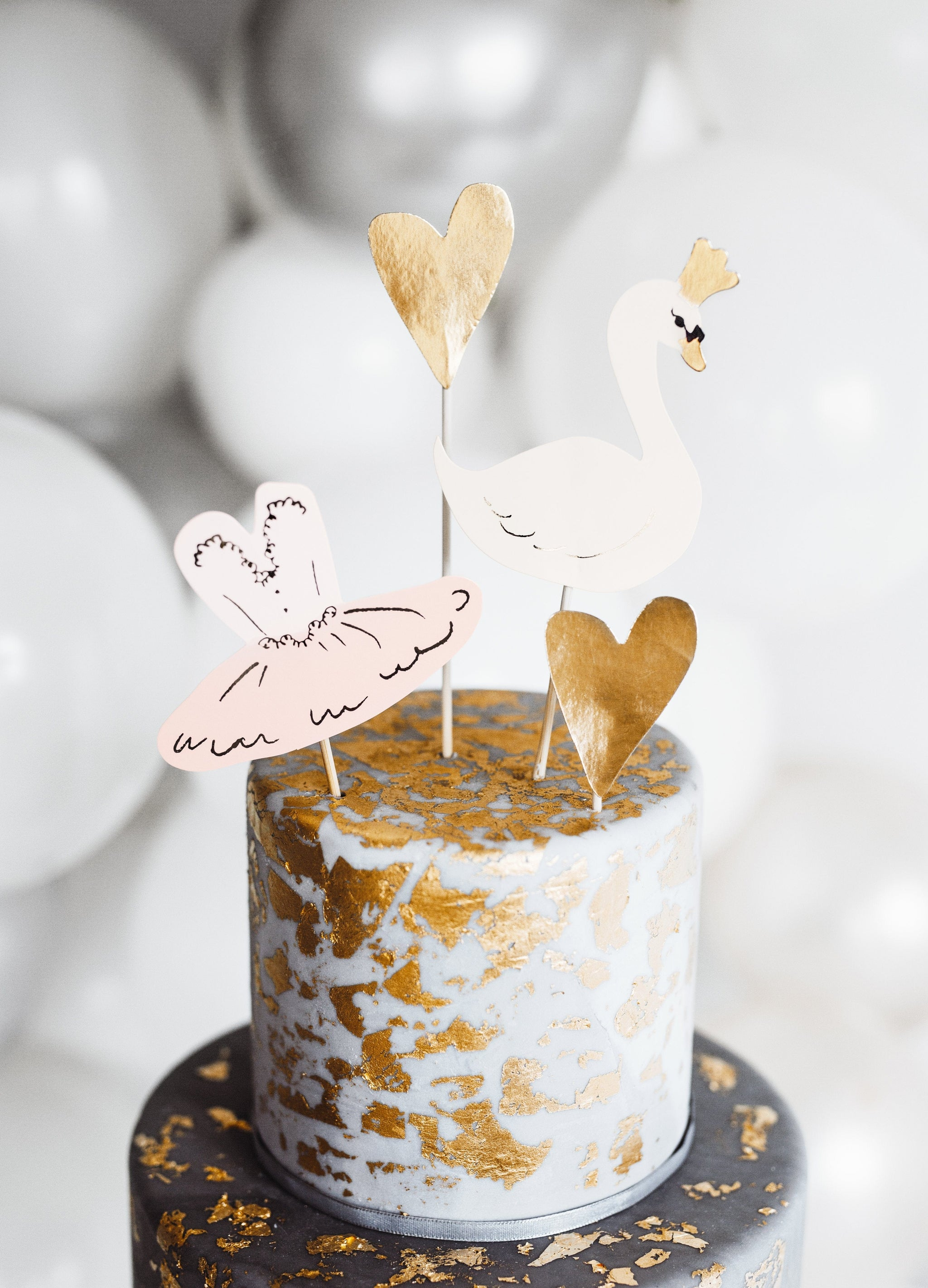 Swan Cake Toppers | Ballerina Party