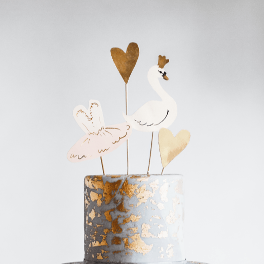 Swan Party Cake Toppers