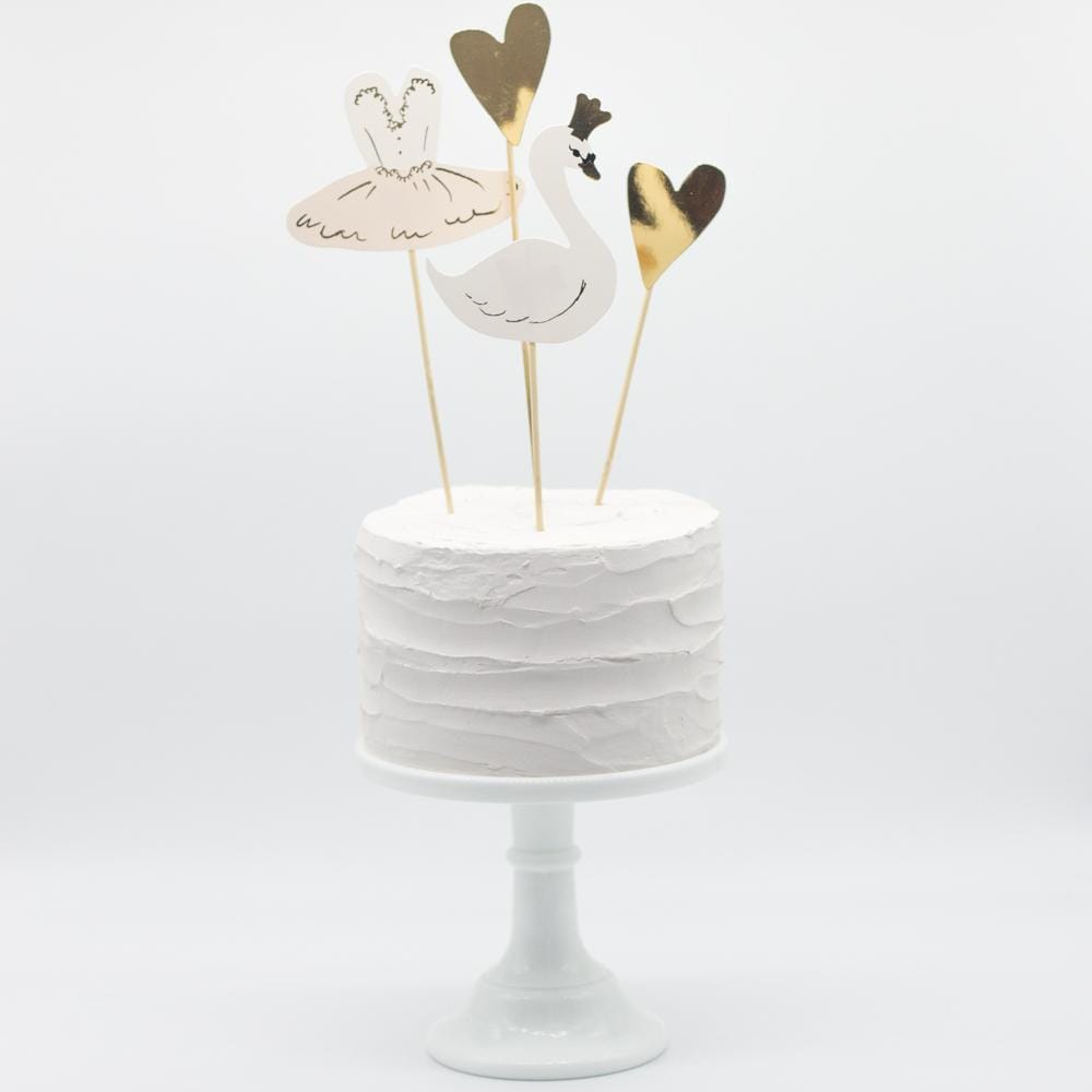 Swan Party Cake Topper | Swan Theme or Ballerina Party Toppers