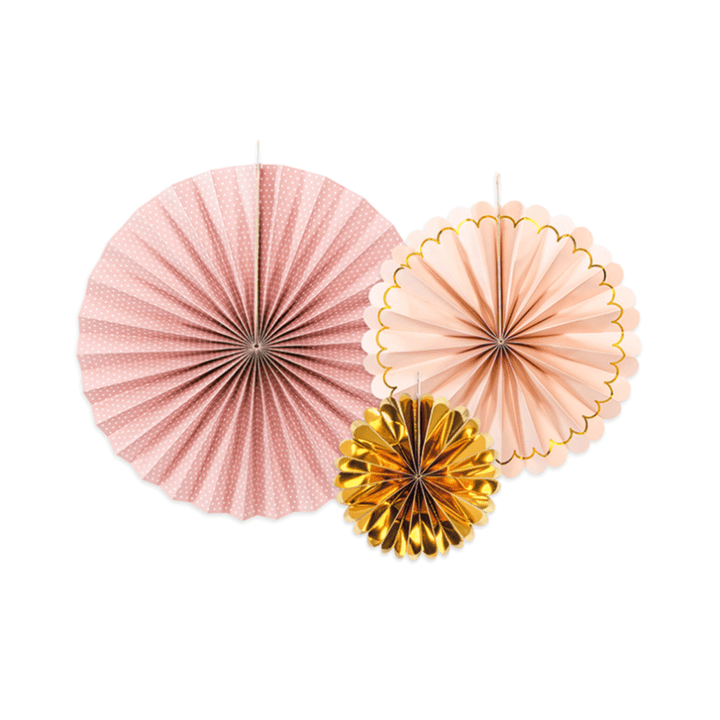 Luxe Fan Rosettes - Blush Mix