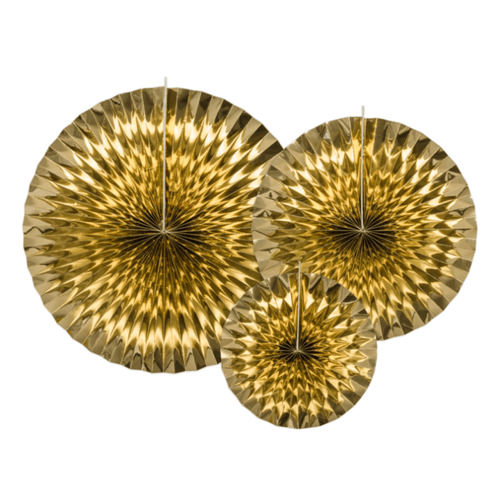 Luxe Fan Rosettes - Gold