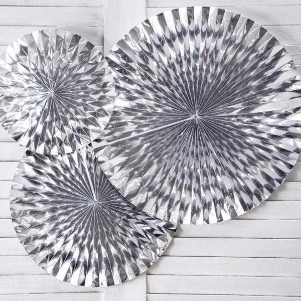 Silver Party Fans | Wedding party Decorations