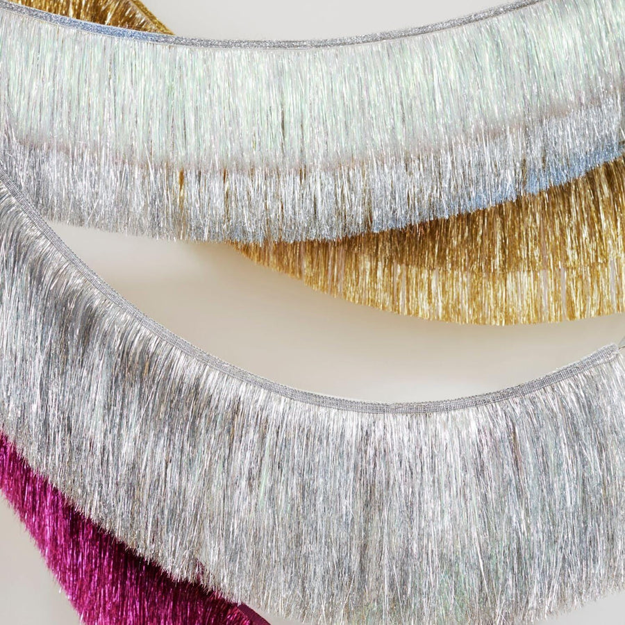Red tinsel Fringe Garland for Christmas by Meri Meri Party