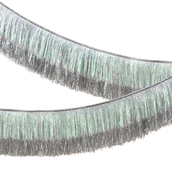 Luxe Silver Iridescent Tinsel Fringe Garland