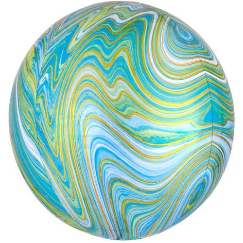 Blue Green Marble Orb Balloon UK
