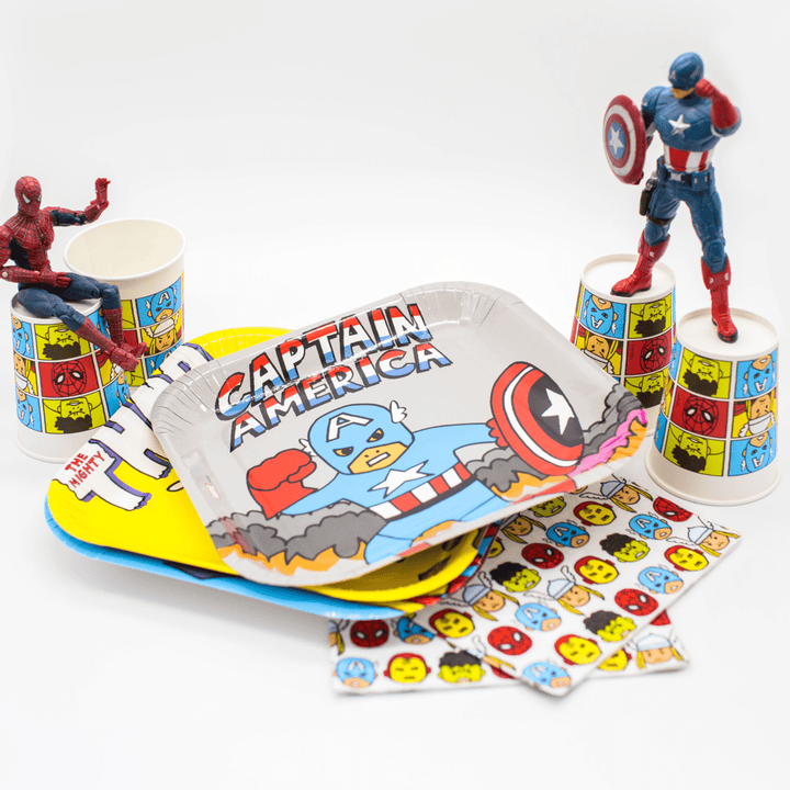 Marvel Avengers Large Plates (4 Pack)