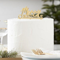 Merry Christmas Cake Topper | Christmas Cake Decoration Ginger Ray UK