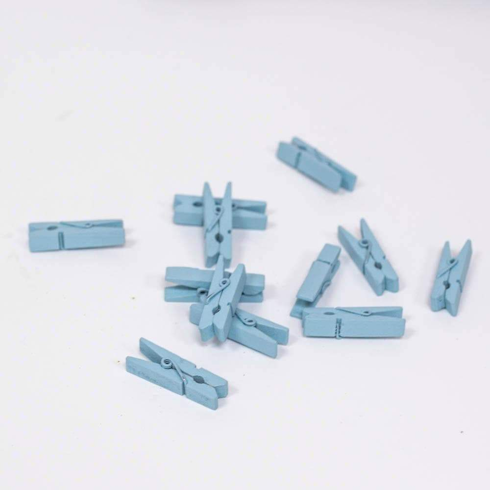 Mini Blue Pegs for Party Crafts