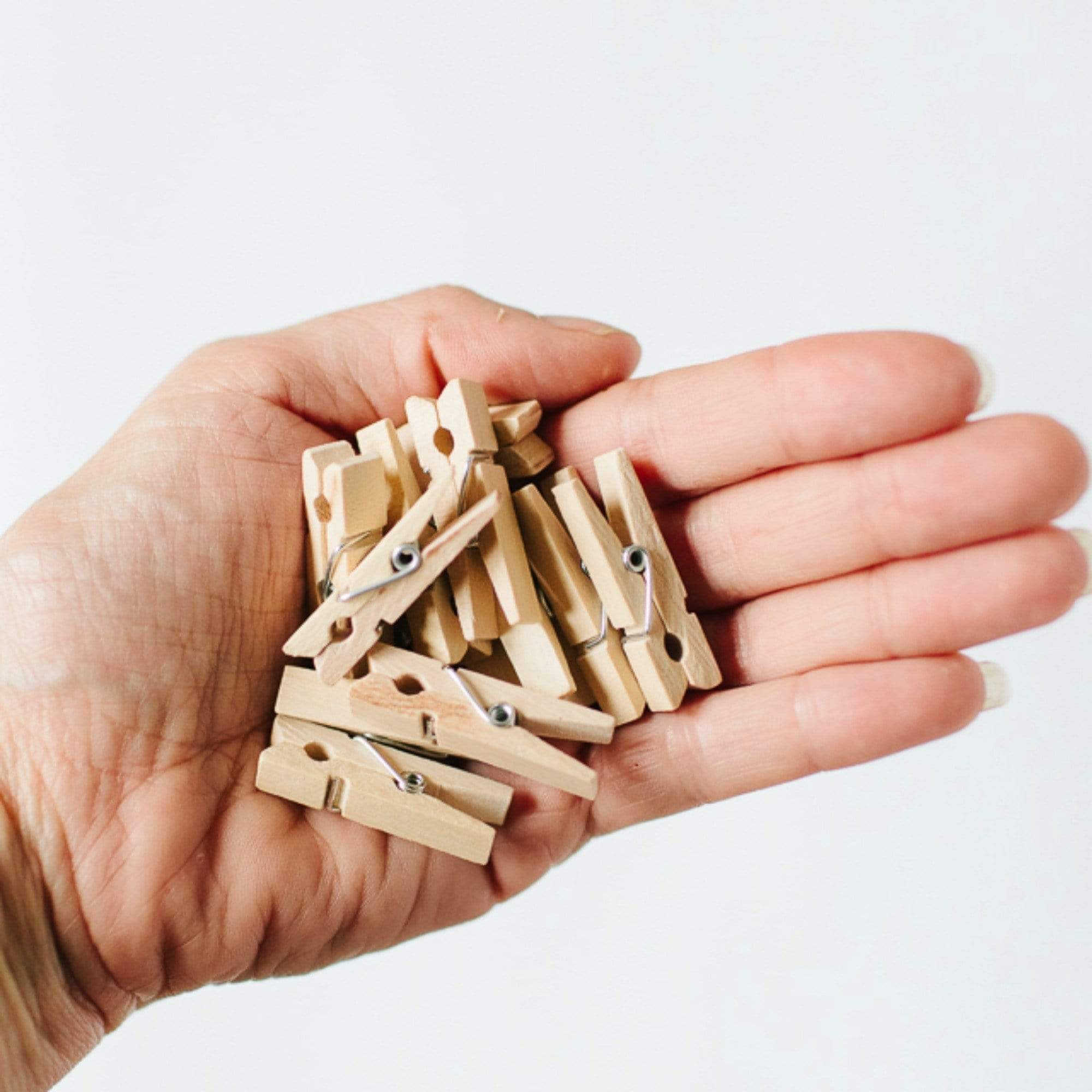 Mini Pink Wooden Pegs (12 pack)