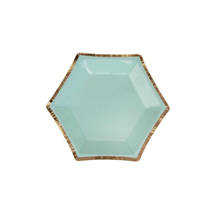 Mint Colour Block Canape Plate (8 Pack)
