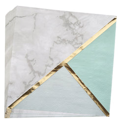 Mint Marble Colour Block Party Napkins