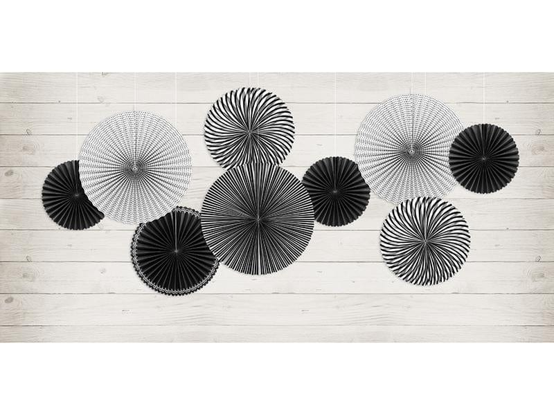 Monochrome Fan Decorations