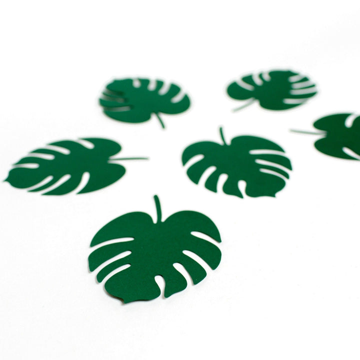 Monstera Tropical Leaf Place Cards