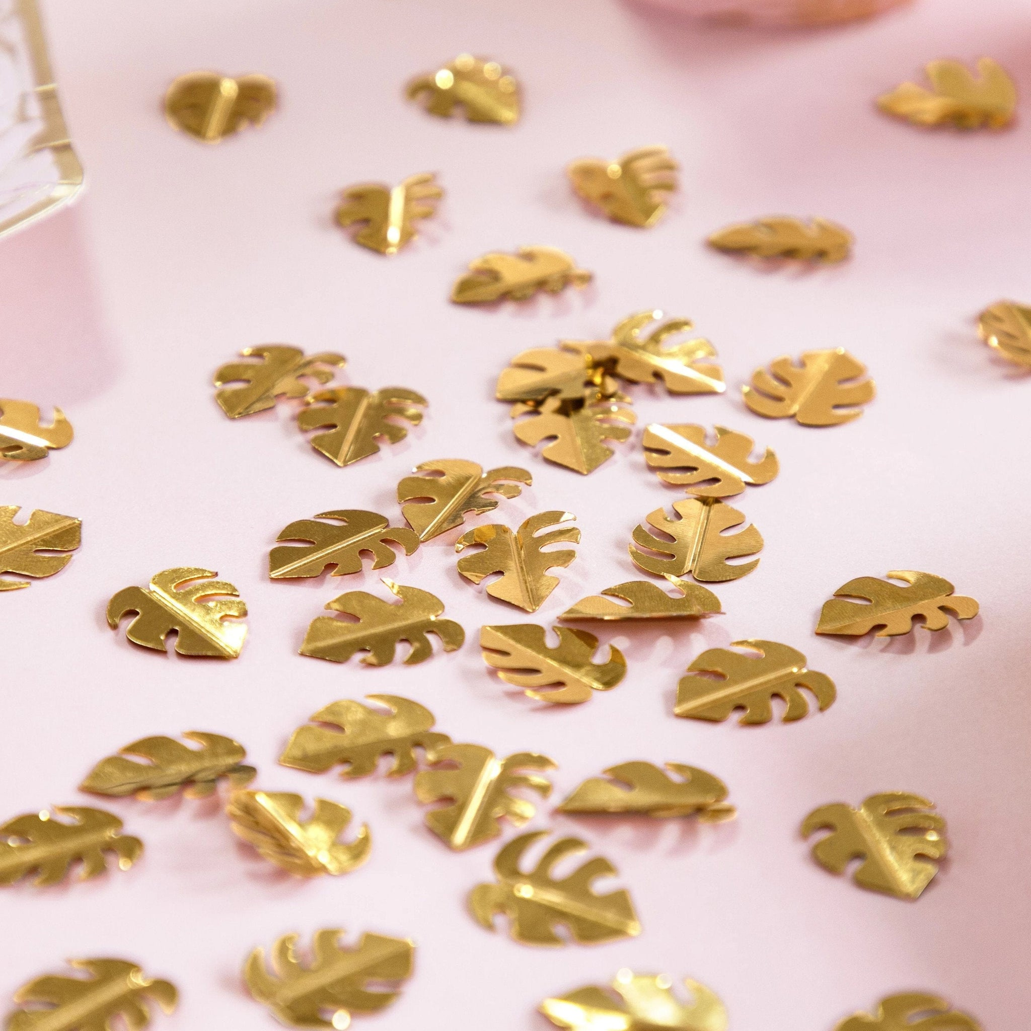 Gold Tropical Leaf Confetti | Monsterra Leaves