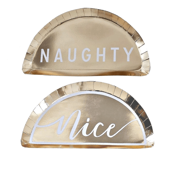 Naughty or Nice Christmas Plates (8 Pack)