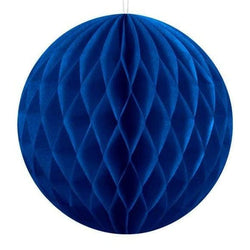Navy Blue Honeycomb Ball Paper Decorations