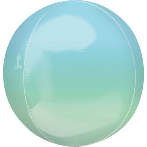 Ombre Orbz Balloon Blue Green