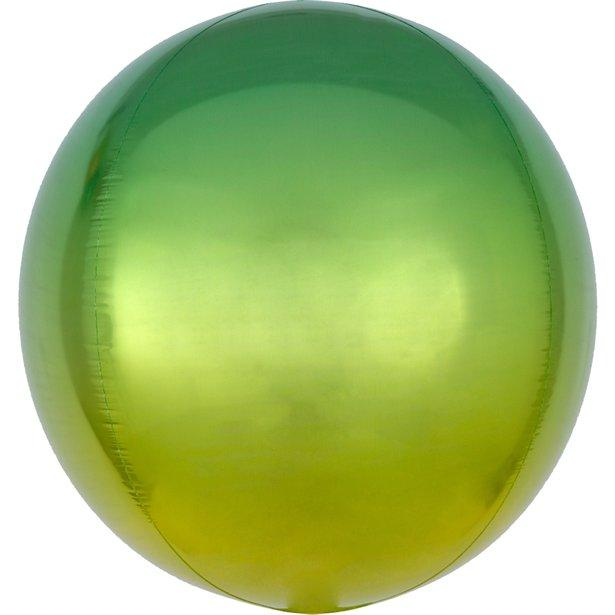 Green Yellow Ombre Orbz Balloons
