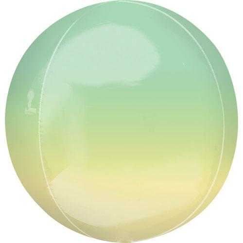 Ombre Orb Balloon - Green Yellow
