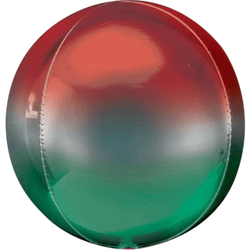 Ombre Orb Balloon - Red and Green
