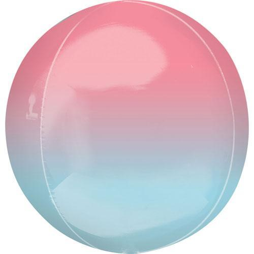 Red to Blue Orbz Ombre Balloon