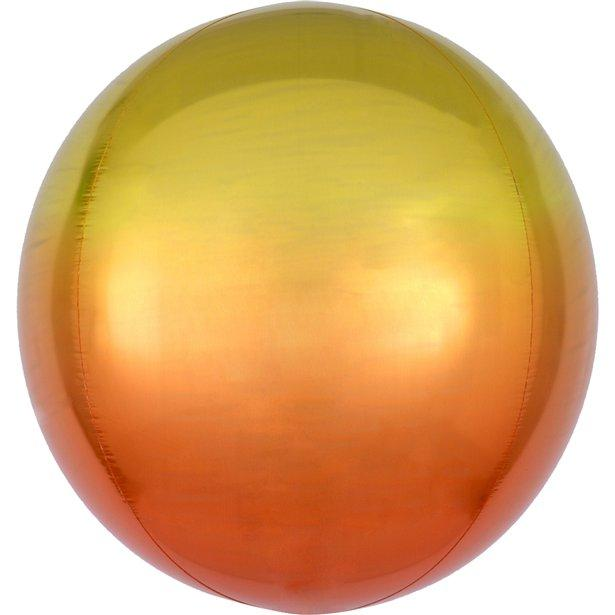Yellow to orange Ombre Orb Balloon