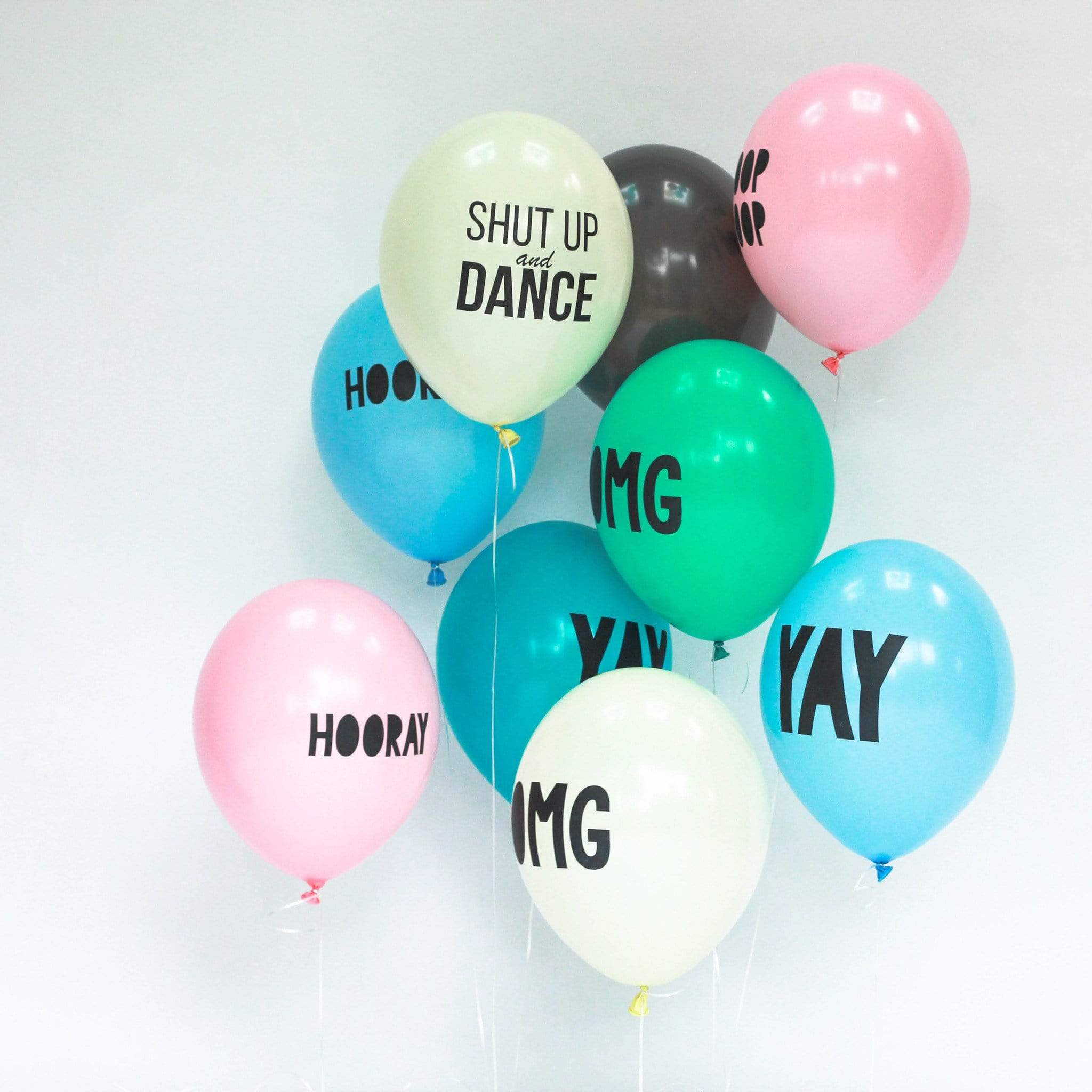 OMG Balloons Teal (5 Pack)