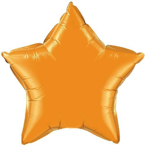Orange Star Foil Balloon 20