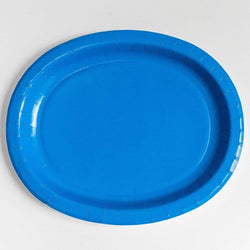 Oval Platters Blue (8 pack)