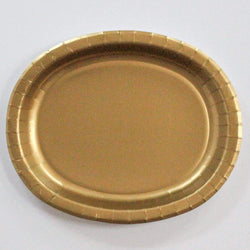 Oval Platters Gold (8 pack)