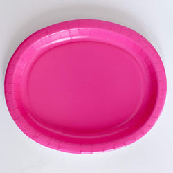 Oval Platters Pink (8 pack)