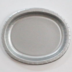 Oval Platters Silver (8 pack)