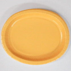 Oval Platters Yellow (8 pack)