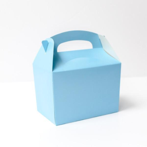 Pale Blue Party Lunch Box | Coloured Party Boxes UK