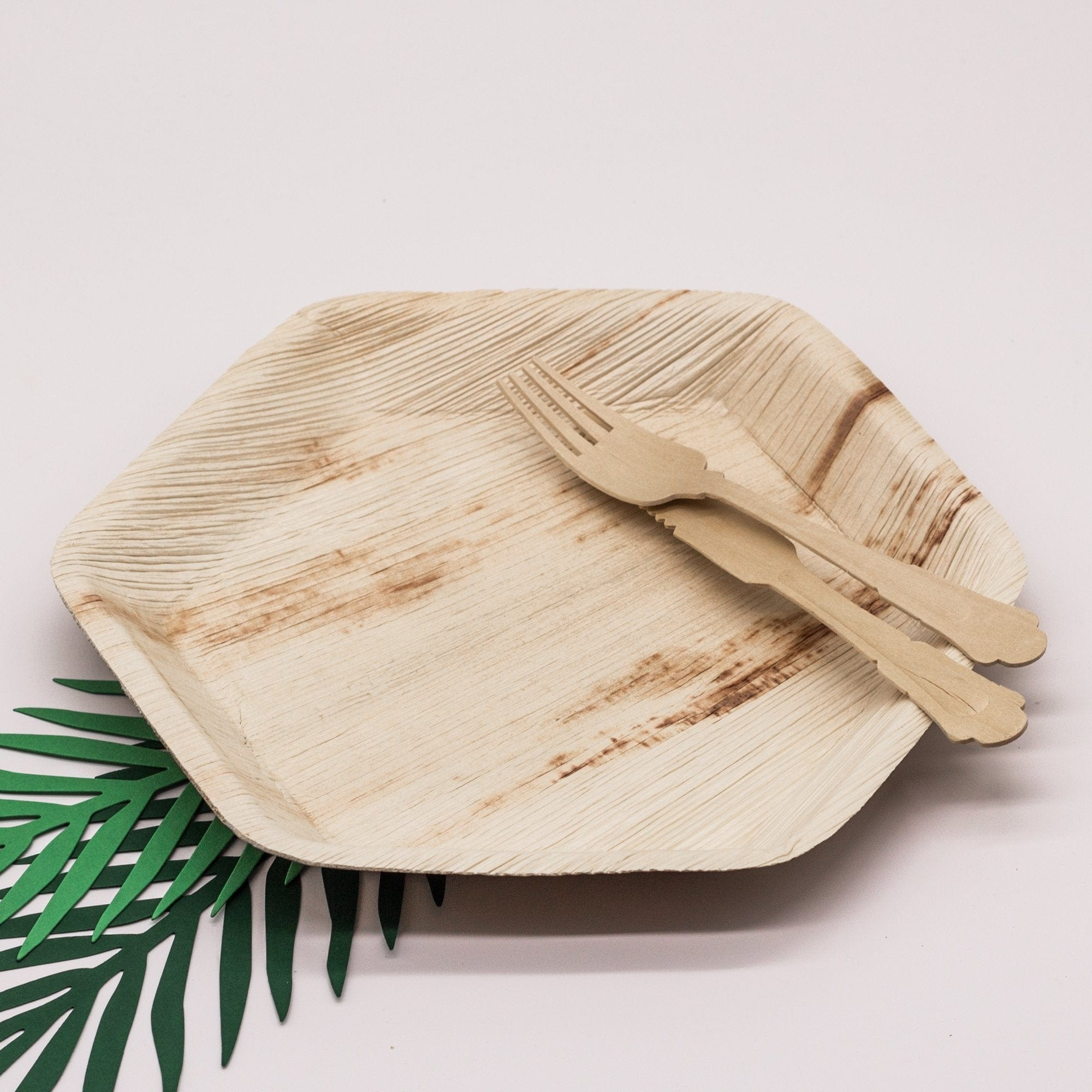 Eco Disposable and Biodegradable Palm Leaf Plates | Hexagonal Palm Leaf Plates