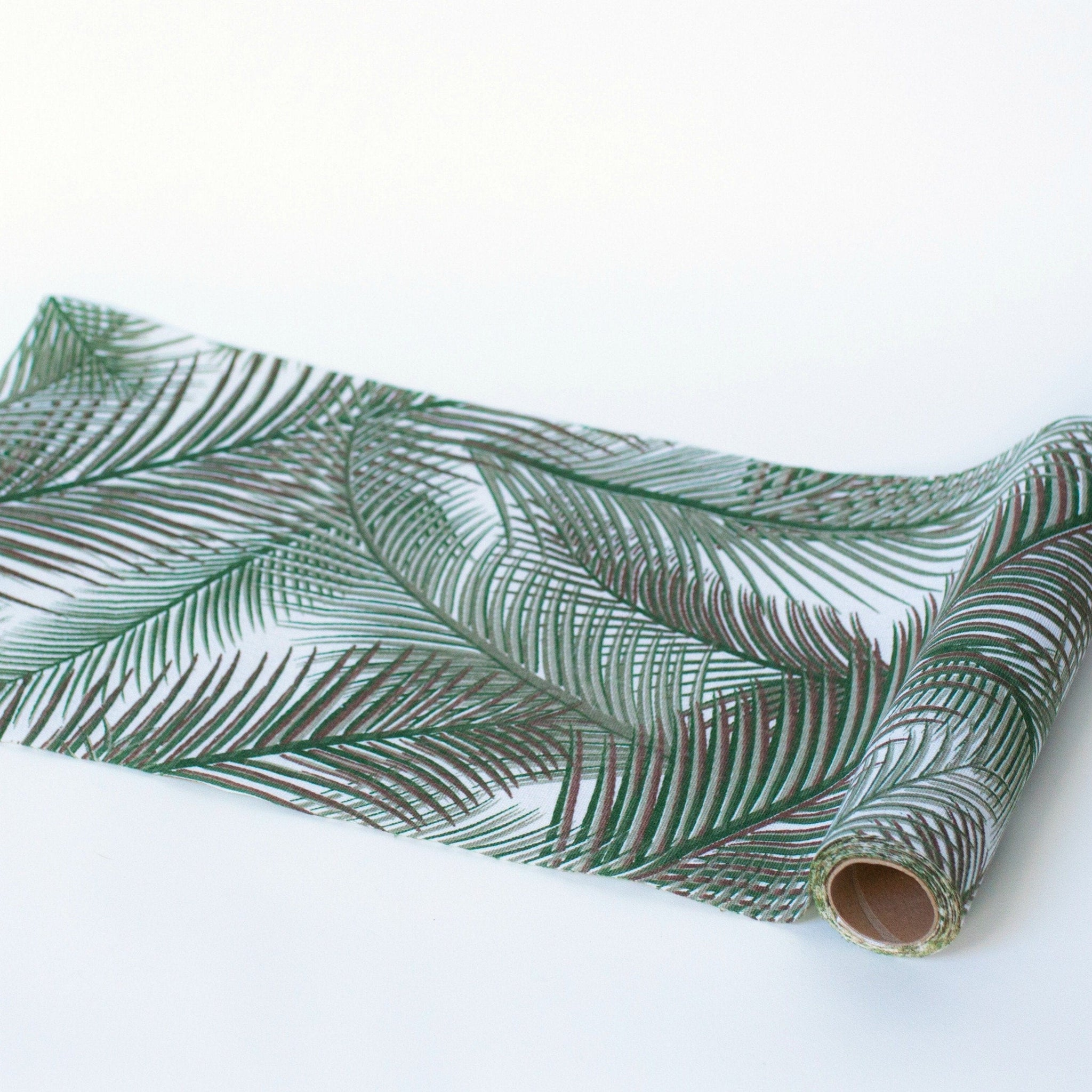 Tropical Botanic Leaf Palm Table Runner