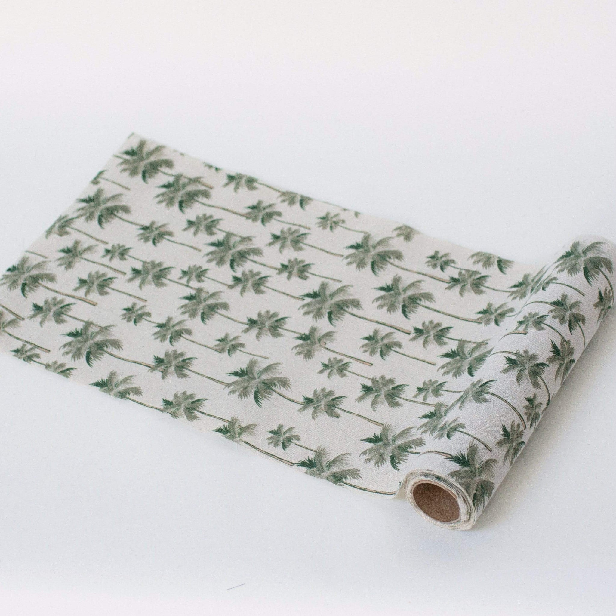 Palm Tree Botanical Tropical Party Table Runner