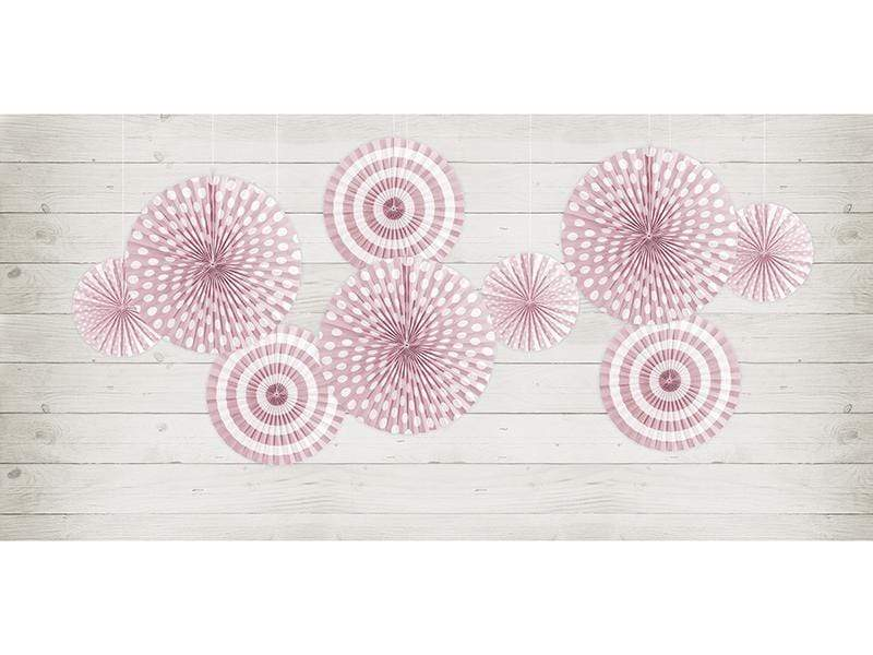 Dusty Pink Paper Fan Rosettes