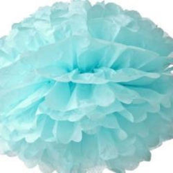 Paper Pom Pom Light Blue 16""